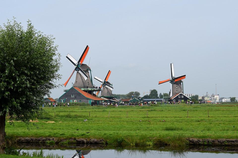 free photo landscape windmills netherlands dutch landscape max pixel