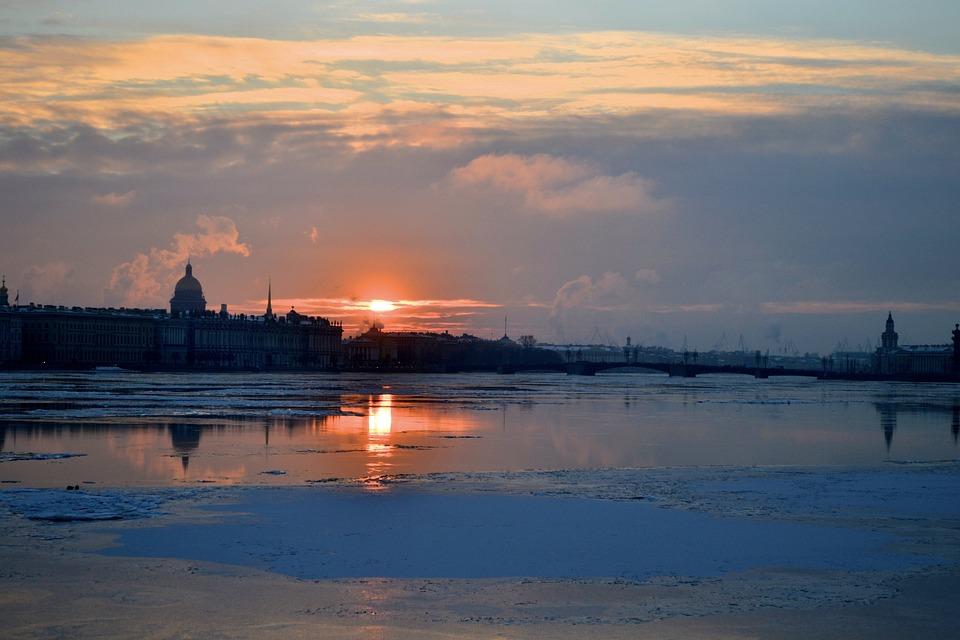 Russia, Sunset, Winter, Landscape, Sunrise, Sunny, Old