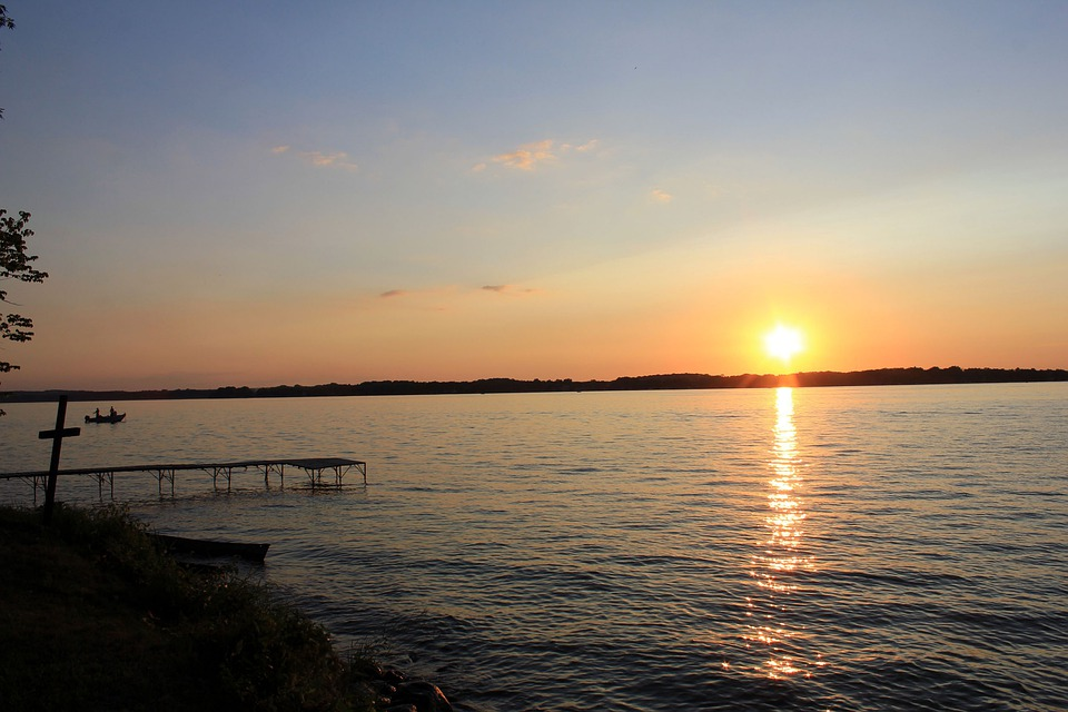 Bible Camp, Lake, Sunset, Scenic, Landscape, Wisconsin