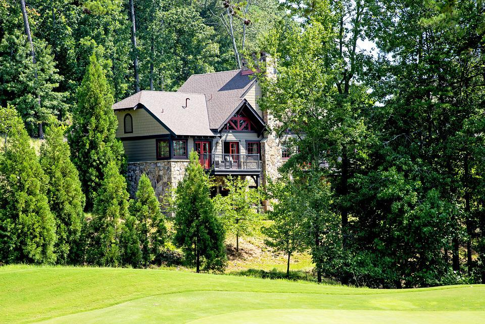 House, Landscape, Home, Atlanta, Property, Yard, Living
