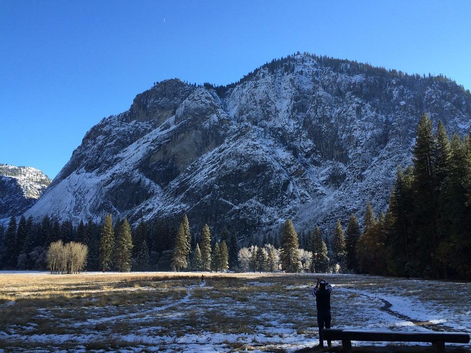 Usa, Yosemite Park, Landscape, Mountains