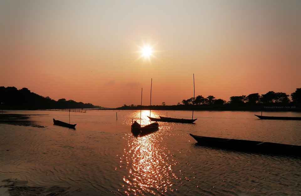 Sunset, Landscape, Assam, India, Landscapes, Natural