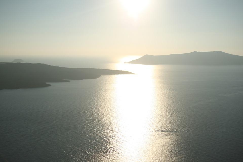 Santorini, Sea, Greece, Cyclades, The Coast, Landscapes