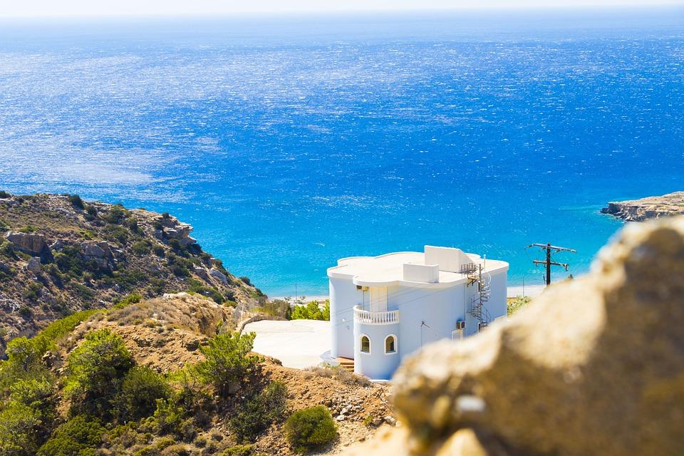 Crete, Greece, House, Colors, The Stones, Landscapes