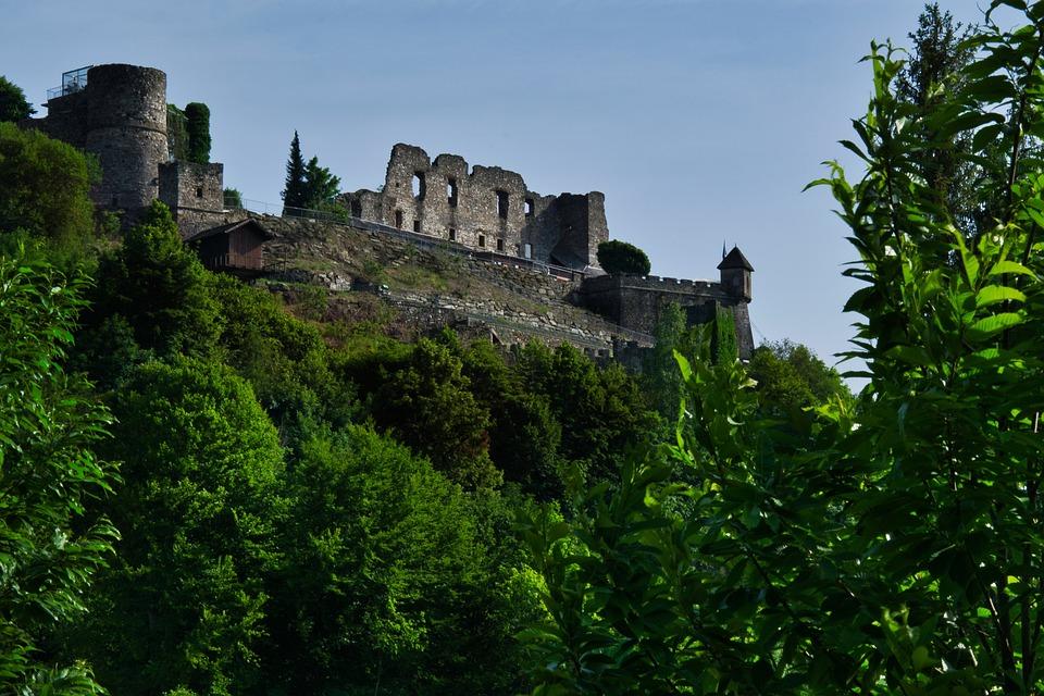 Castle, Landskron, Austria, Nature, Forest