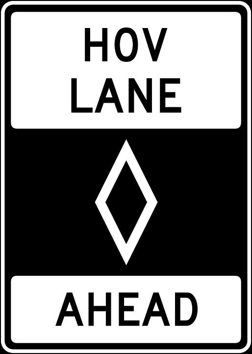 Drive, Car, Ahead, Lane, Information, Driving, Hov