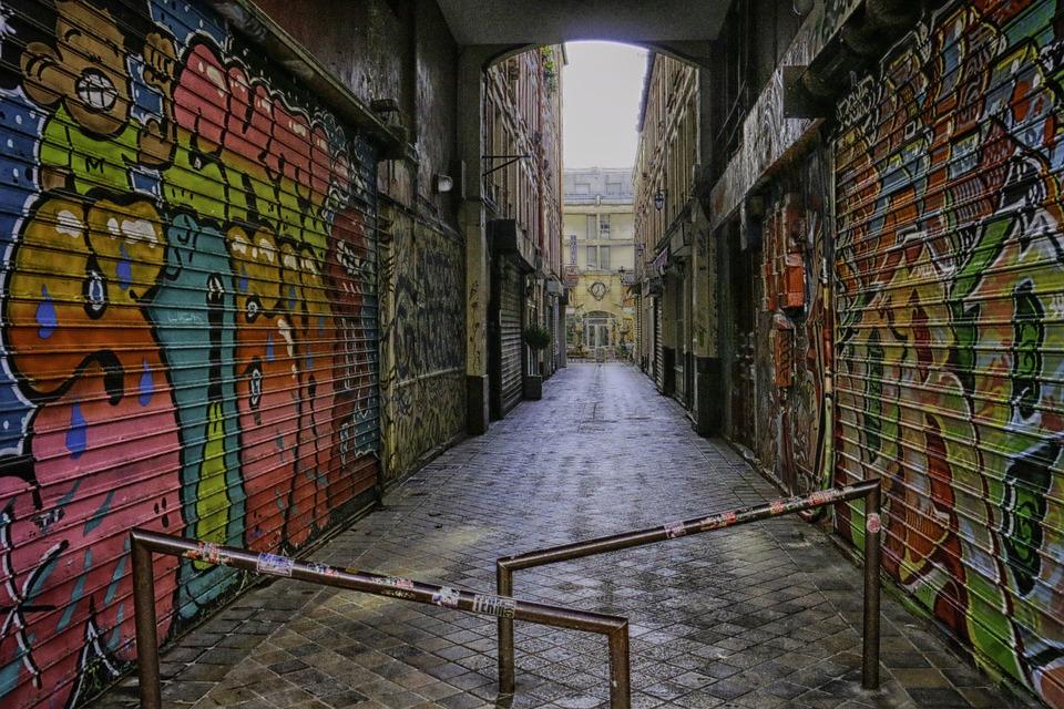 Lane, Paris, Dark, Tags, Pavers, Obscure, City, Street