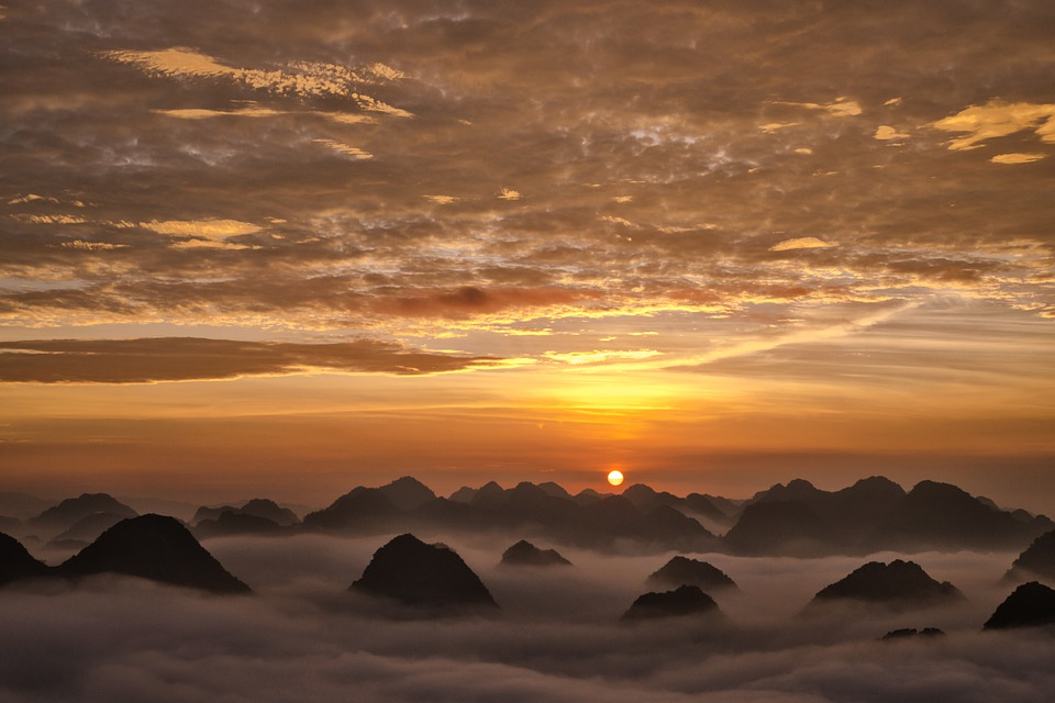 Bac Son, Lang Son, Vietnam, Clouds, Mountain, The Waves