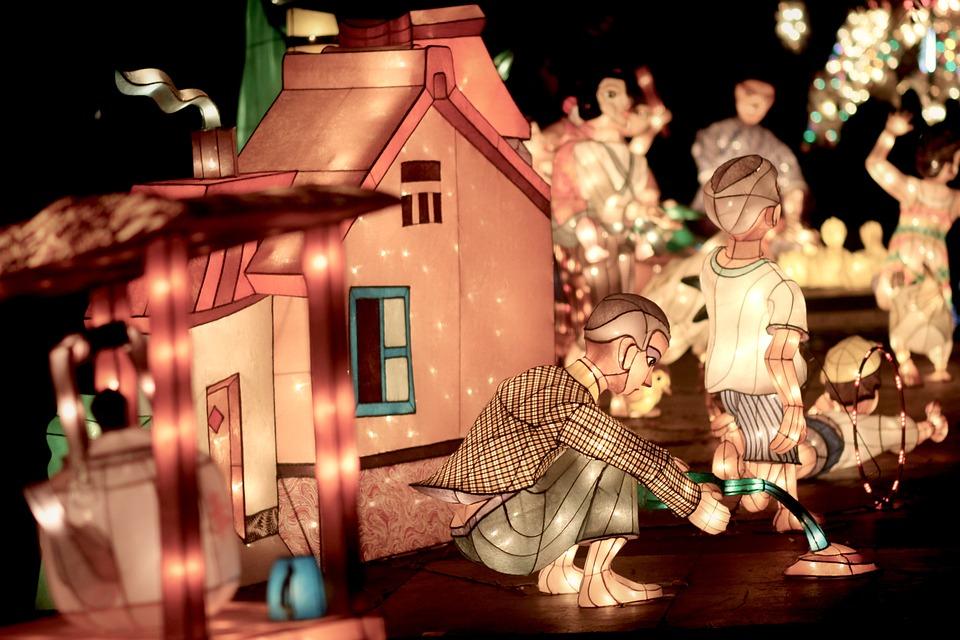 Lantern, Children's, Night, Light, Night View, Home