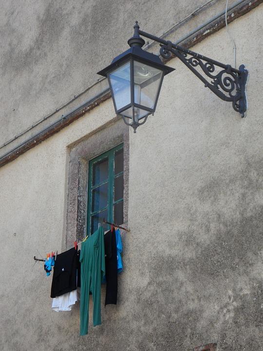 Mediterranean, Facade, Lantern, Street Lamp, Home
