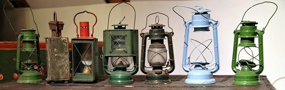 Kerosene Lamp, Karbidówka, Lantern, Old, Lighting