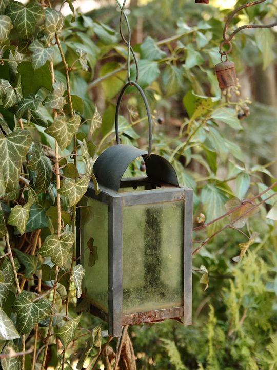 Garden, Lamp, Lantern