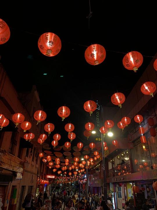 Chinese, Lights, Asian, Light, Lantern, China, Lanterns