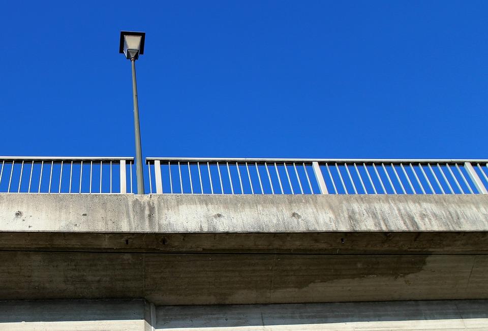 Lantern, Street Lamp, Railing, Bridge, Bridge Railing