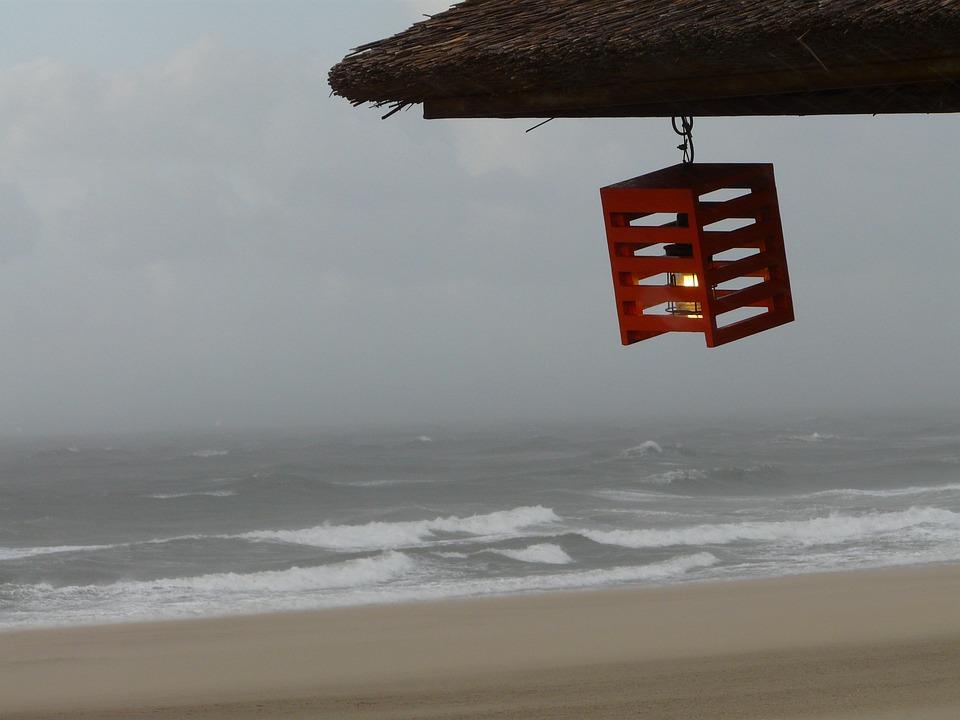 Beach, Lantern, Light, Candle, Wind, Forward, Romance