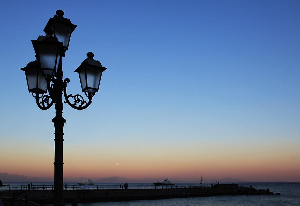 Evening, Lantern, Abendstimmung, Street Lamp, Sky