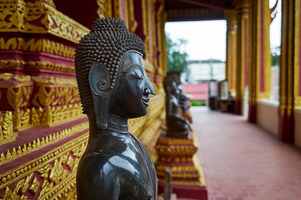 Temple, Statues, Asia, Buddha, Buddhist, Deity, Laos