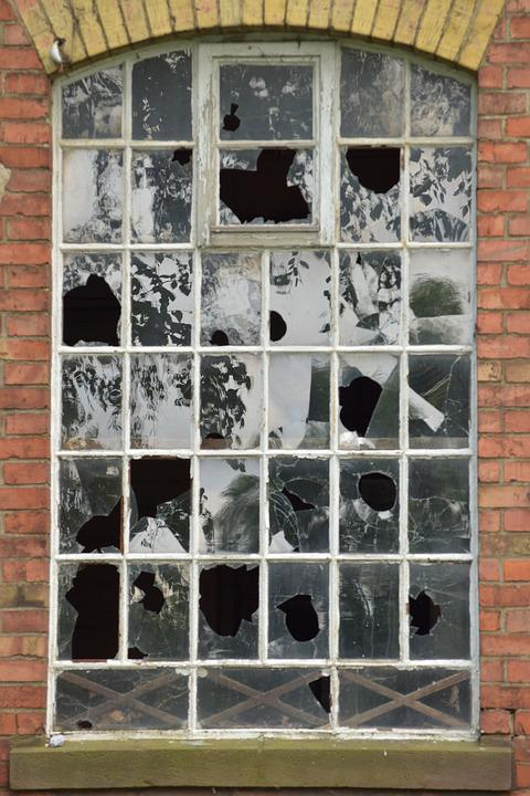 Factory, Window, Old, Ruin, Building, Lapsed, Leave