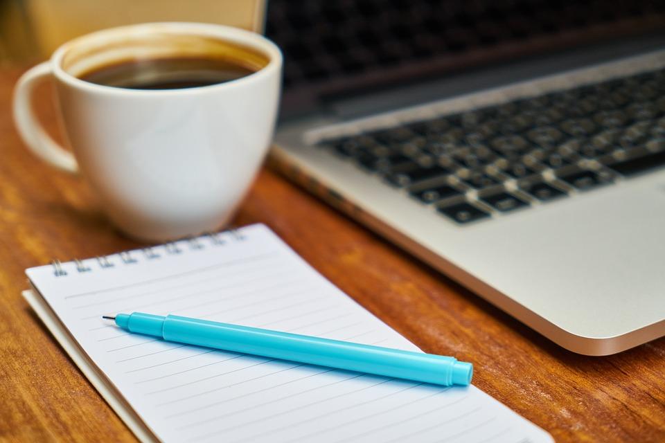 free photo laptop coffee keyboard work computer the work