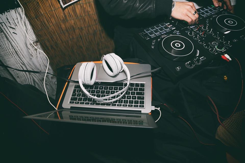 Headphones, Laptop, Dj, Music, Dj Controller
