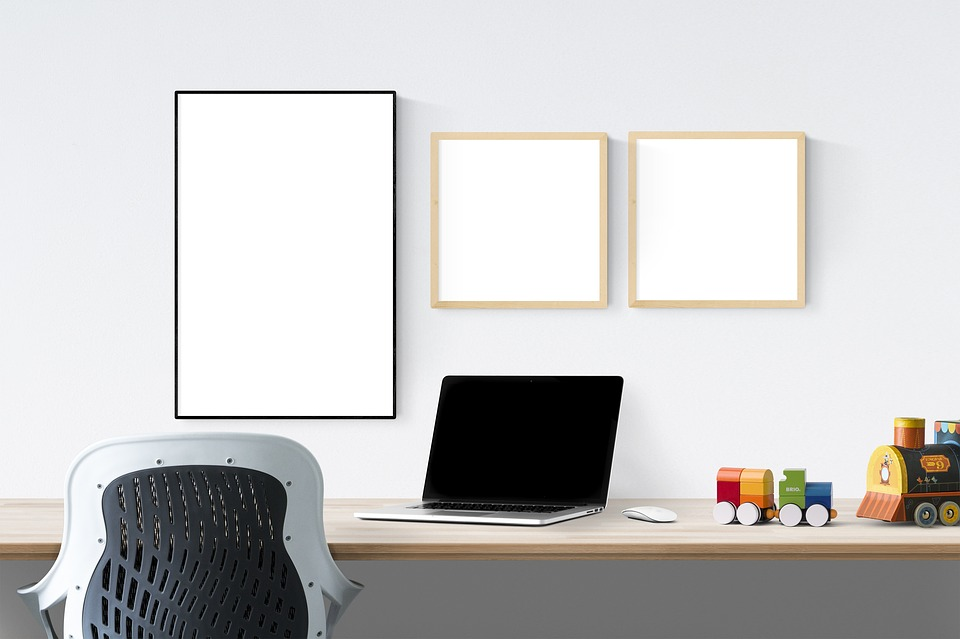 Poster, Frame, Laptop, Toys, Chair