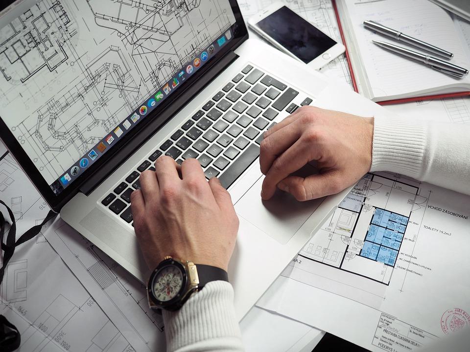 Blueprints, Entrepreneur, Hands, Iphone, Laptop