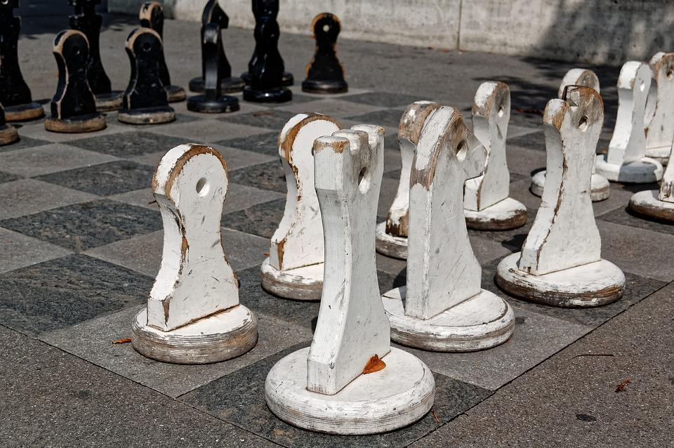 Chess, Figures, Large, Out, Outdoor, Chess Pieces, Play