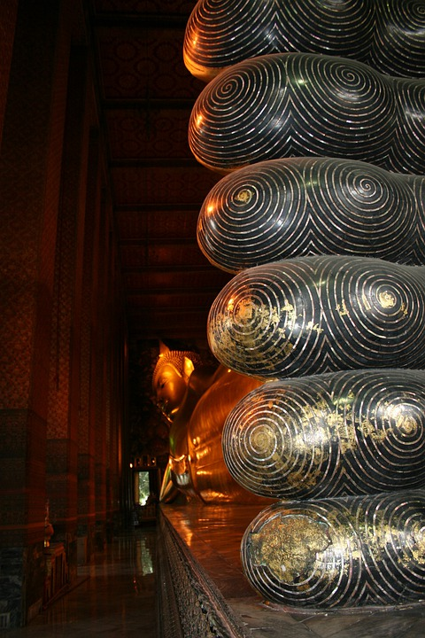 Buddha, Feet, Grand Palace, Thailand, Large, Huge, Gold
