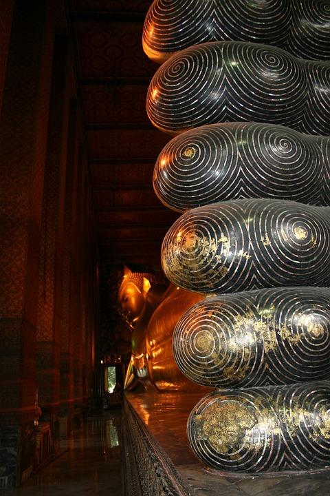 Buddha, Feet, Grand Palace, Thailand, Large, Huge, Gold