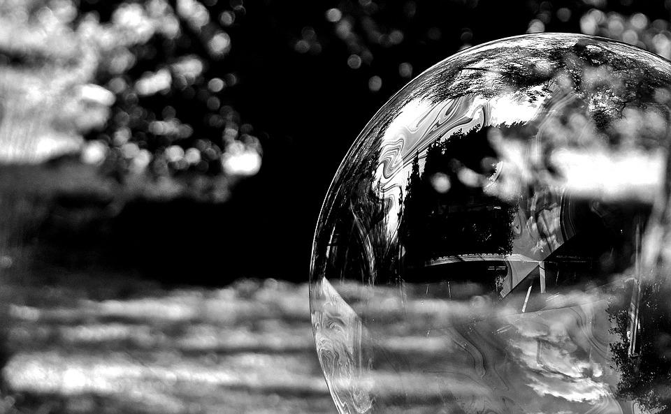 Soap Bubble, Black And White, Huge, Large