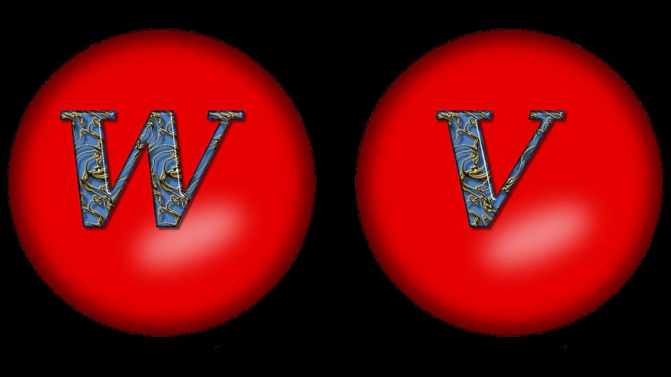 Alphabet, Letter Big In, Large Letter V