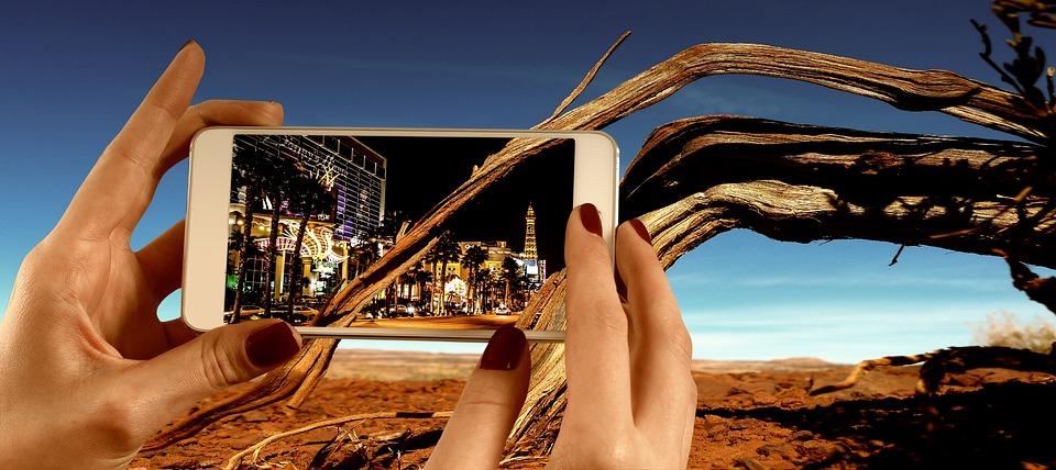 Mobile Phone, Desert, Las Vegas, Smartphone, Phone