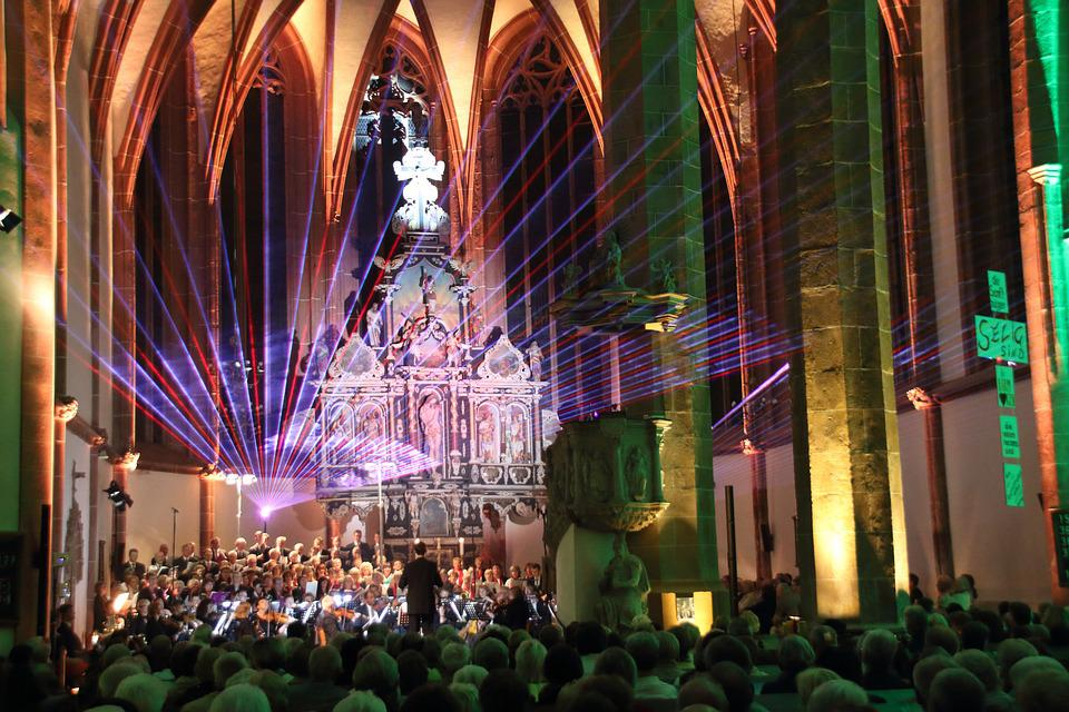 Church, Concert, Laser, Church Room, Choir, Laser Show