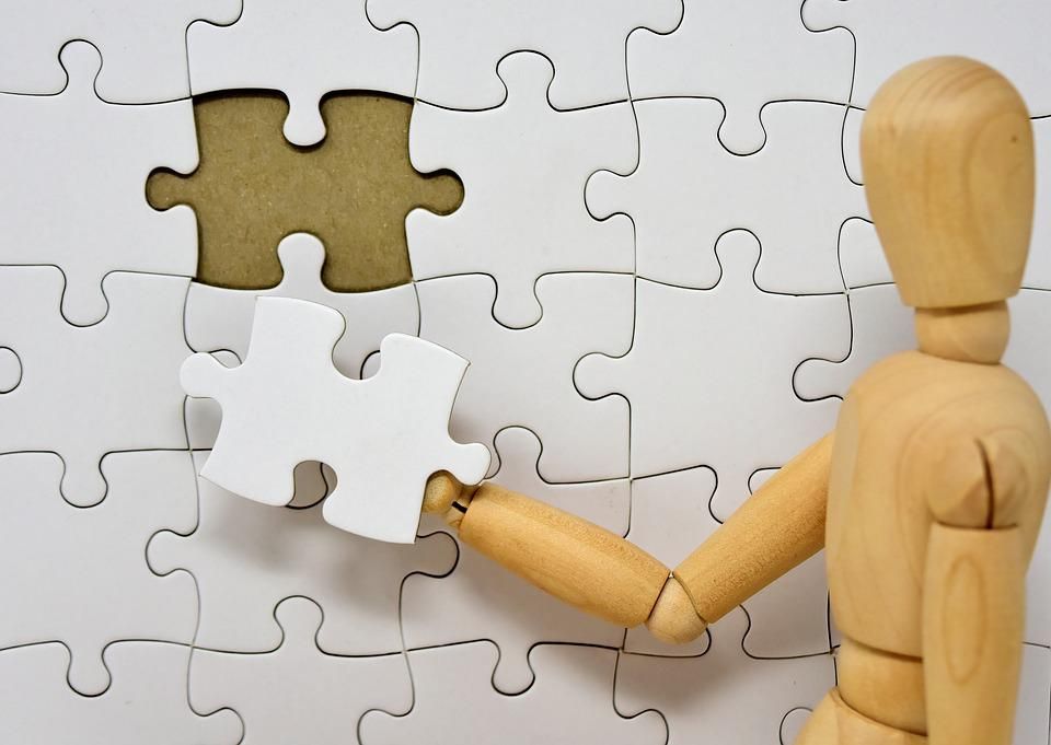 Figure, Wood, Puzzle, Last Part, Joining Together