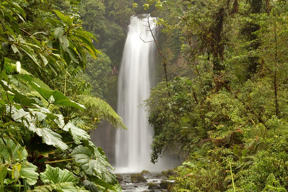 Costa Rica, Latin America, River, Waterfall, Water