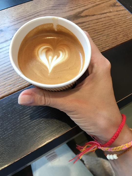 Coffee, Hand, Cup, Coffee Cup, Latte Art, Latte