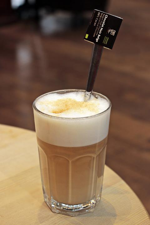 Latte Macchiato, Coffee, Cafe, Drink, Caffeine, Food