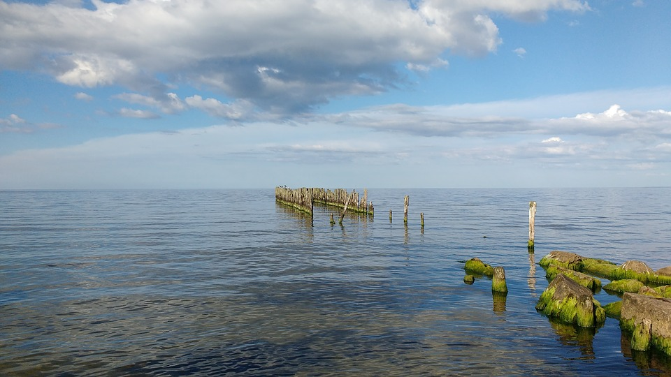Latvia, Baltic, Sea, Beach, Broken, Bridge