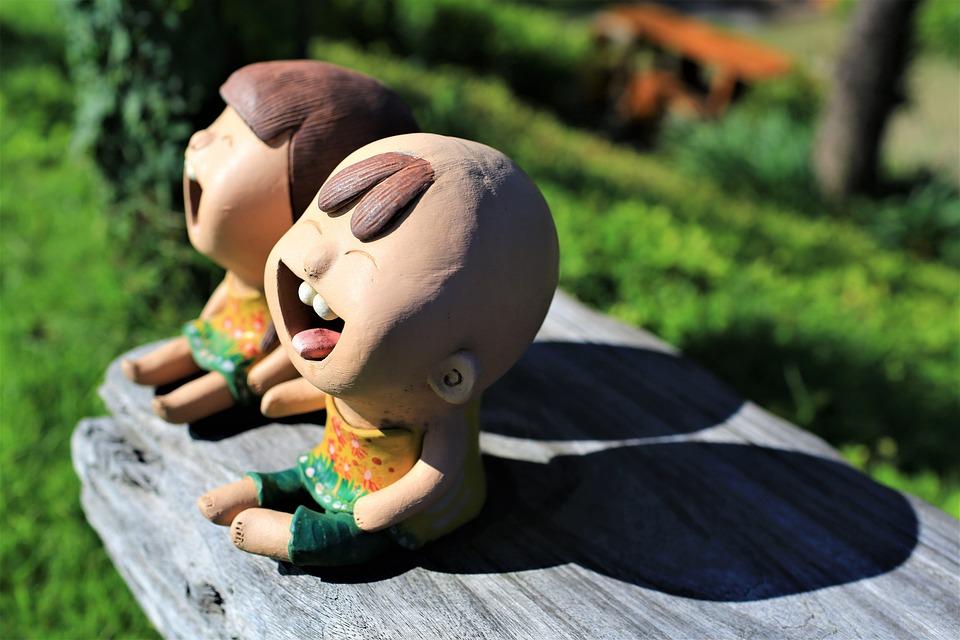 Doll, Figure, Girl, Boy, Sculpture, Art, Laughing