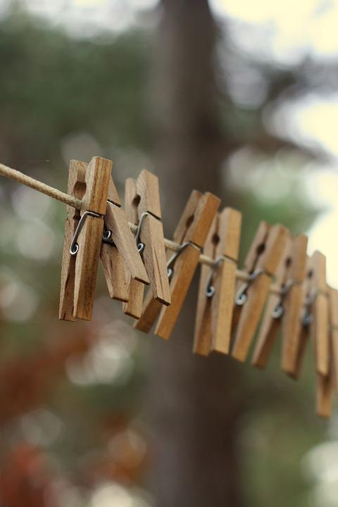 Clothesline, Clothespin, Rustic, Laundry, Line, Dry