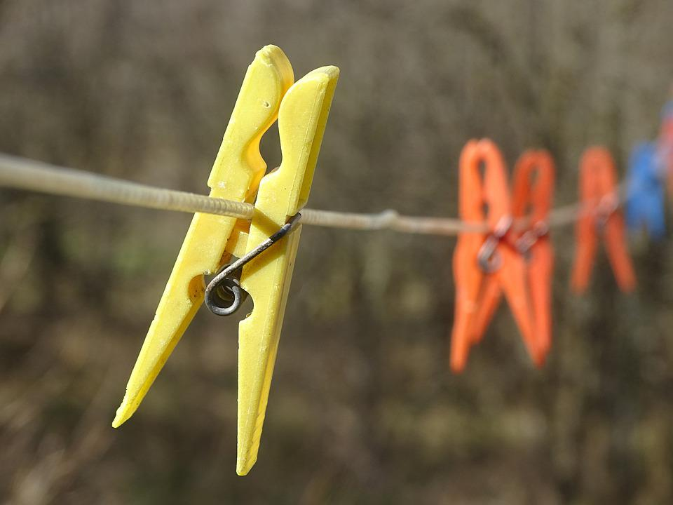 Clothespin, Line, Laundry, Clothesline, Clothespins