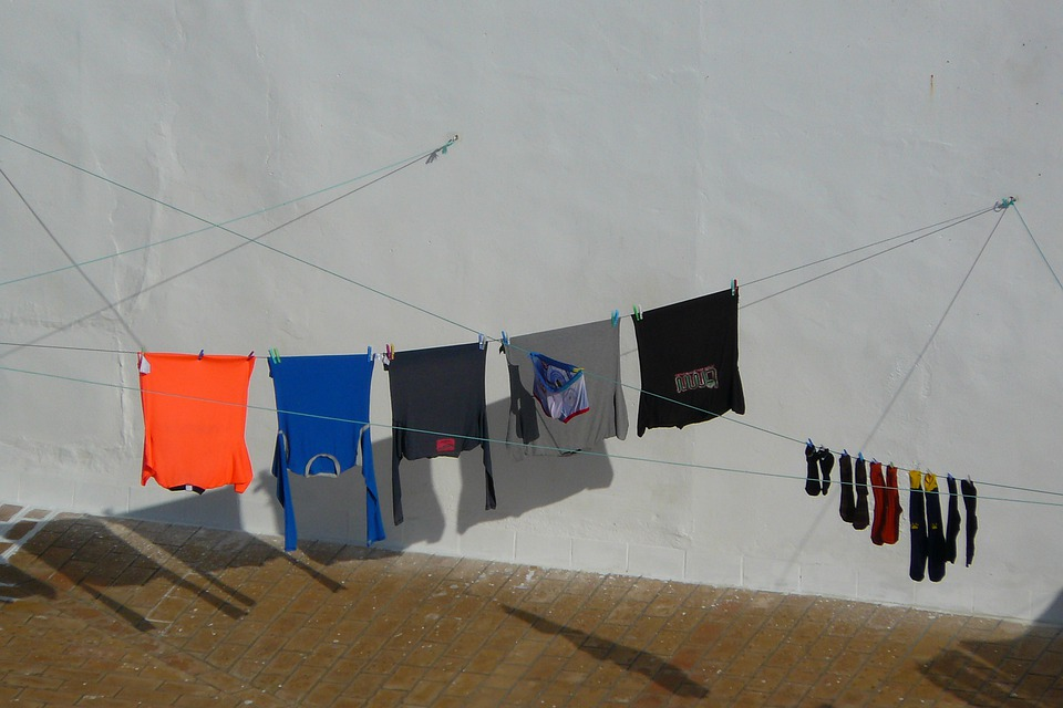 Laundry, Colorful, Clothes Line, City, Depend, Clothing