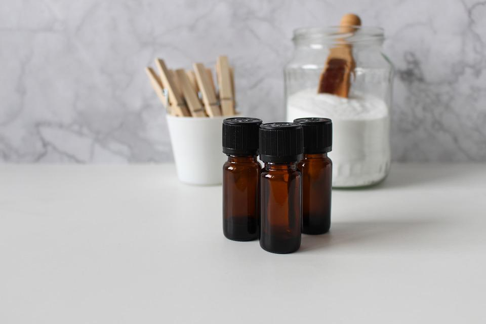 Essential Oils, Wash, Wood Clamp, Clothes Peg, Laundry