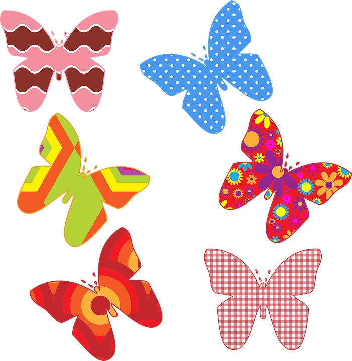 Butterflies, Butterfly, Colorful, Laurie 1, Patterns