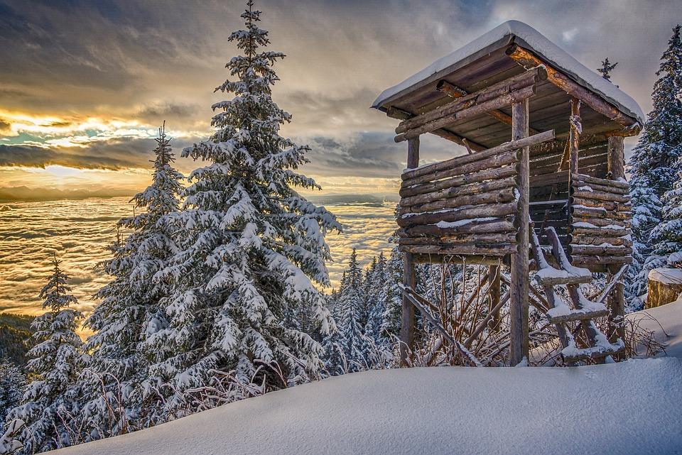 Lavanttal, Carinthia, Koralpe, Wintry, Winter, Snow