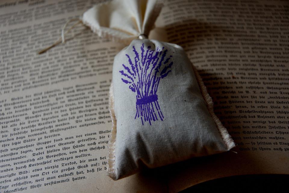 Fragrant, Bag, Lavender, Old, Book