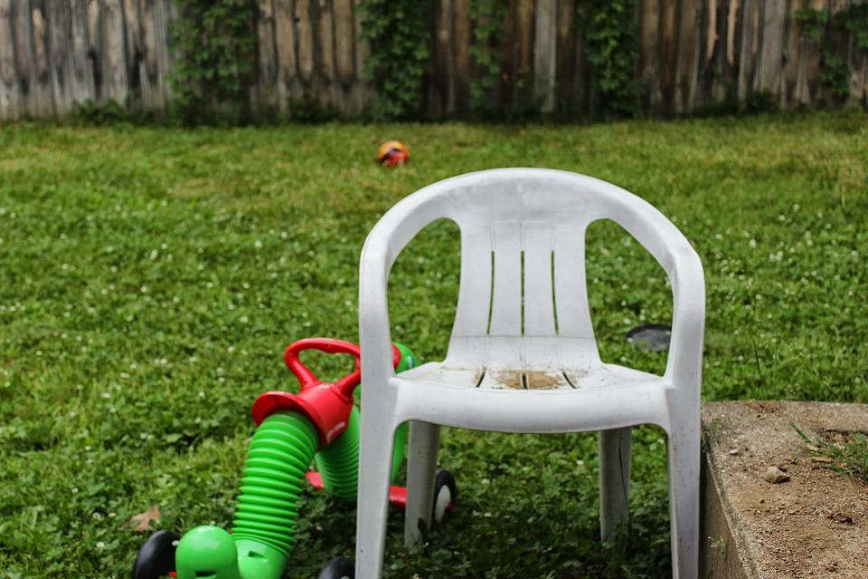 Backyard Toys free photo lawn chair fenced in backyard chair toys - max pixel