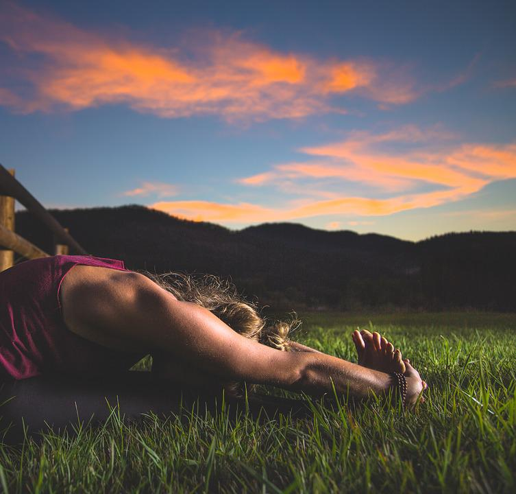 Adult, Dawn, Exercise, Field, Girl, Grass, Lawn