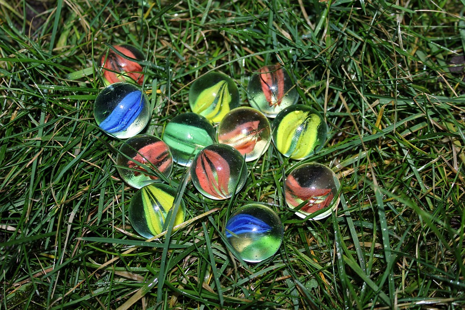 Balls, Colorful, Glass Ball, Glass, Nature, Lawn, Color