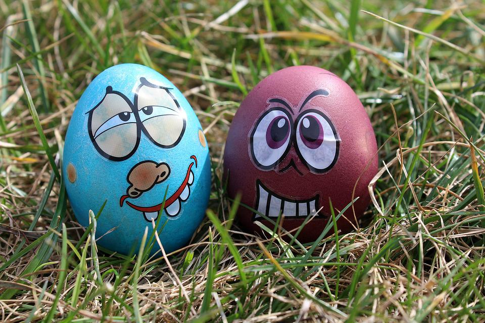 Easter Eggs, Eggs, Para, Happy, Easter, Lawn